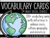 Social Studies Vocabulary Cards {2nd Grade}