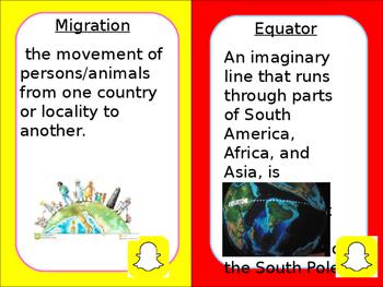 Social Studies Vocabulary Cards 5th grade