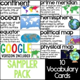 Social Studies Vocabulary Cards Sampler Pack