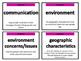 Social Studies Vocabulary Cards for 4-5th Grade