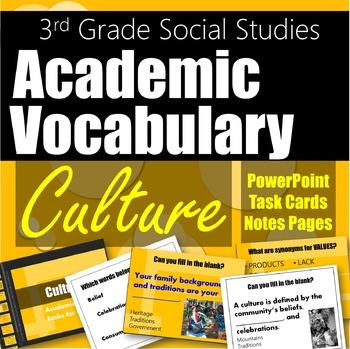 Social Studies Vocabulary Culture