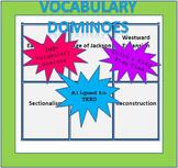 Social Studies Vocabulary Dominoes - 8th Grade (TEKS Aligned)