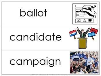 Elections Vocabulary Bundle
