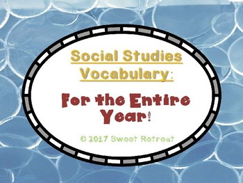 Social Studies Vocabulary - Entire Year Bundle!