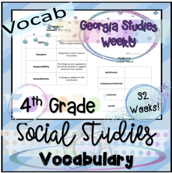 Social Studies Vocabulary: Georgia Studies Weekly