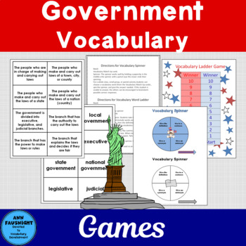 Government Vocabulary Activities