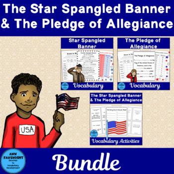 Pledge of Allegiance and Star-Spangled Banner Vocabulary Unit