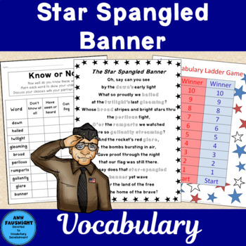 Pledge of Allegiance and Star-Spangled Banner Vocabulary Bundle