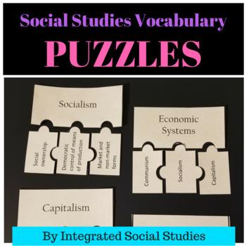Social Studies Vocabulary Puzzles