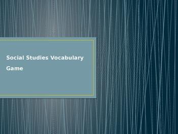Social Studies Vocabulary Quiz