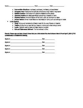 Social Studies Vocabulary Study Guide