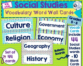 Social studies vocabulary word wall teaching resources teachers social studies vocabulary word cards social studies vocabulary word cards fandeluxe Gallery