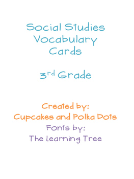 Social Studies Vocabulary Word Wall
