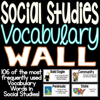 Social Studies Vocabulary Word Wall