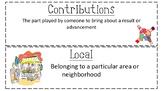 Social Studies Vocabulary Word Wall Cards - Economics, Community, More