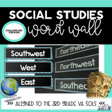 Social Studies Vocabulary Word Wall Chalkboard Theme