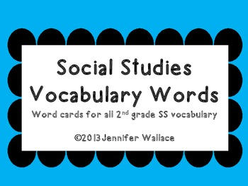Social Studies Polka Dot Vocabulary Words