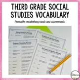 Social Studies Vocabulary for Third Grade