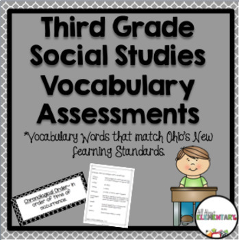 Social Studies Vocabulary for Third Grade
