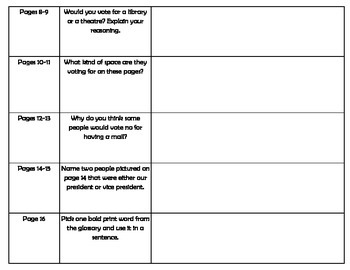 Social Studies Voting Informational Text Activity