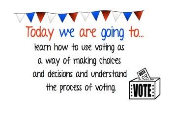 Social Studies Voting Unit