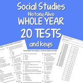 Social Studies WHOLE YEAR 20 Tests BUNDLE by Science Doodles