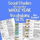 Social Studies WHOLE YEAR 20 Interactive Notebook Vocabulary Sets BUNDLE