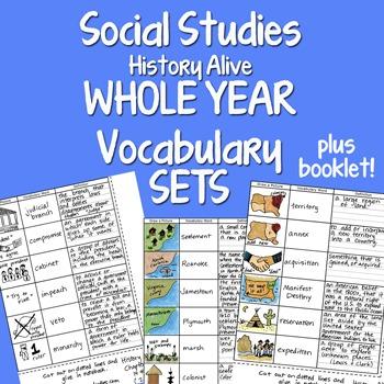 Doodle Notes - Social Studies WHOLE YEAR 20 INB Vocabulary Sets BUNDLE