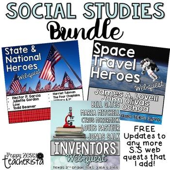 Social Studies Web Quest BUNDLE