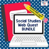 Social Studies Webquest BUNDLE