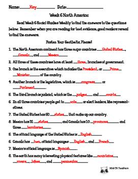 Social Studies Weekly 6 North America