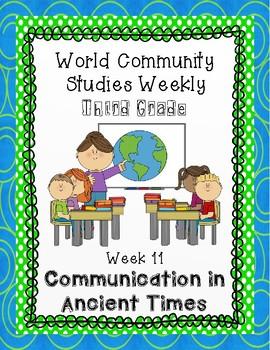 Social Studies Weekly(Alabama)Third Grade Week 11-Communication in Ancient Times