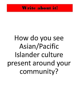 Social Studies Weekly Centers-- Asian Pacific American Heritage Month