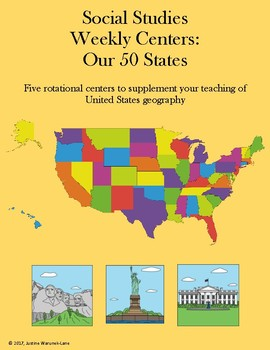 Social Studies Weekly Centers-- The 50 States