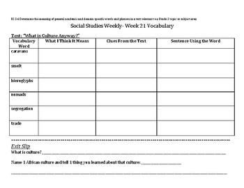Social Studies Weekly Grade 3 Week 21 Resources