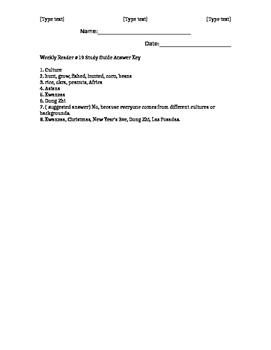 Social Studies Weekly Reader Week 19 Study Guide