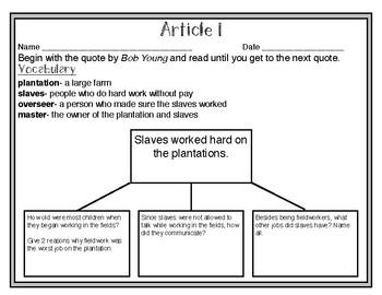 South Carolina Studies Weekly: Week 11 Slavery in South Carolina