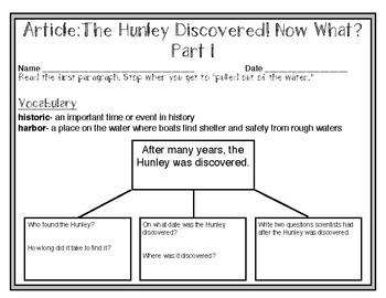 South Carolina Studies Weekly: Week 14 The Hunley