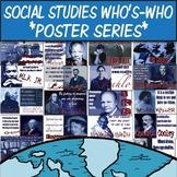 Social Studies Who's-Who Original Illustrations  **Poster Series**