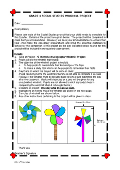 Social Studies Windmill Activity/Project