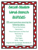 Social Studies Word Search BUNDLE