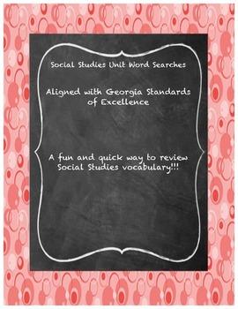Social Studies Word Search BUNDLE
