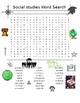 Social Studies Word Search PLUS Social Studies Word Scramble