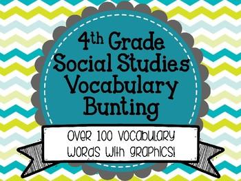 Social Studies Word Wall 4th Grade Vocabulary