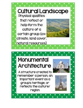 Social Studies Word Wall Cards