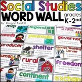 Social Studies Word Wall Cards K-2