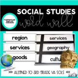 Social Studies Word Wall Farmhouse Shiplap