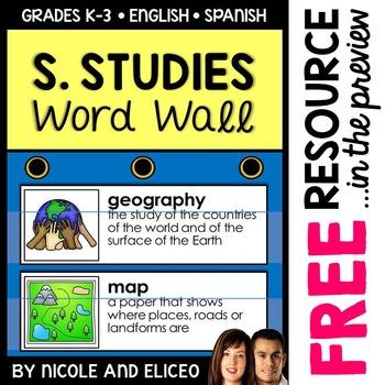 Map Skill Social Studies Word Wall