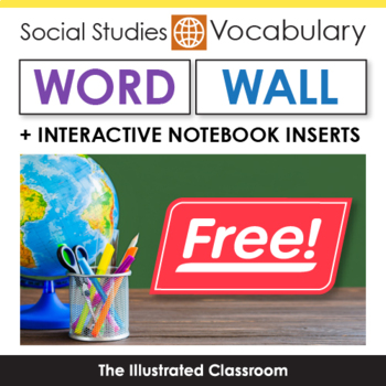 Social Studies Word Wall & Interactive Notebook Inserts for Geography