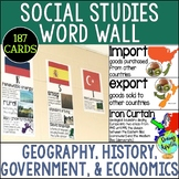 Social Studies Word Wall